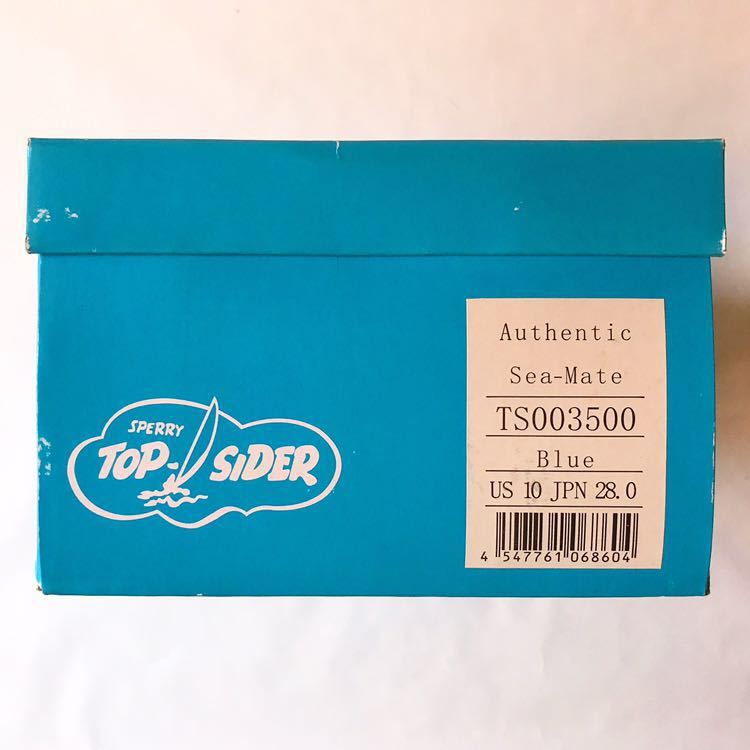 SPERRY TOP-SIDER トップサイダー デッキシューズ Authentic Sea-Mate TS003500 Blue 青 28cm_画像5