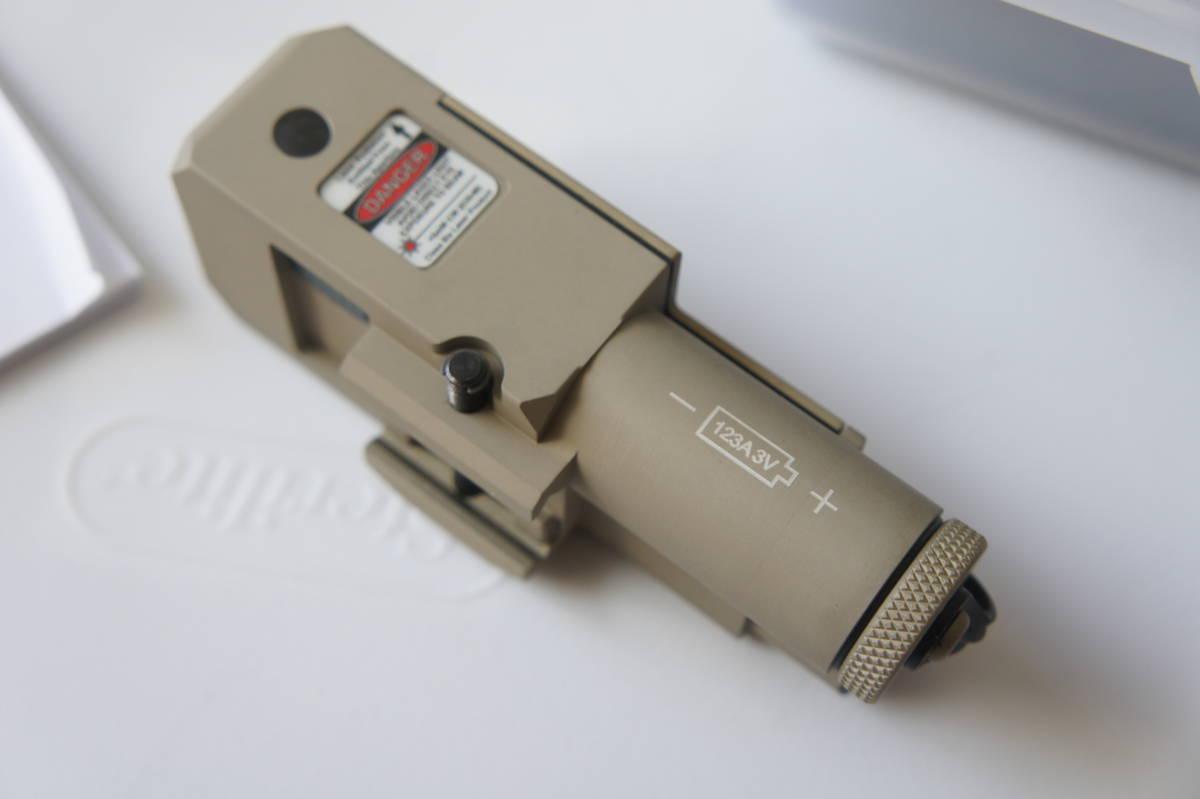 実物 新品 STEINER LDI CQBL-1 タン IR/赤 レーザー PEQ PVS PSQ ATPIAL ptw トレポン LA5 peq15 wilcox _画像3