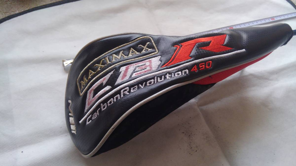 ★★WORKS GOLF MAXIMAX CBR Carbon Revolution 450 ヘッドカバー 1W用 (黒×赤)F20_画像1