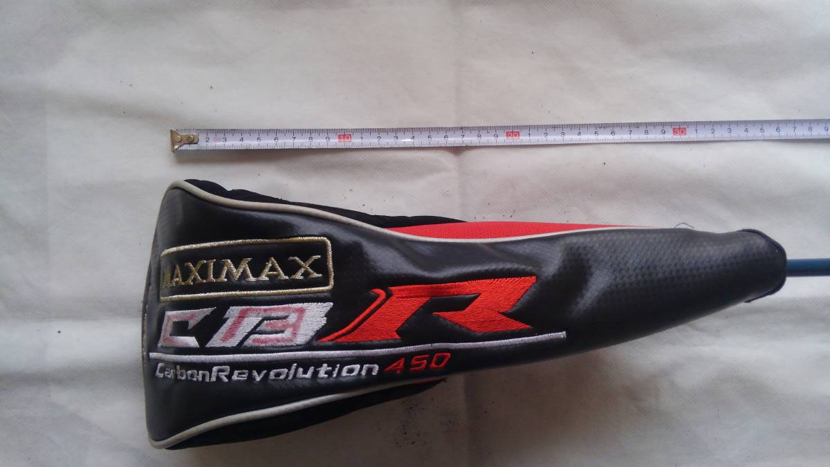★★WORKS GOLF MAXIMAX CBR Carbon Revolution 450 ヘッドカバー 1W用 (黒×赤)F20_画像2