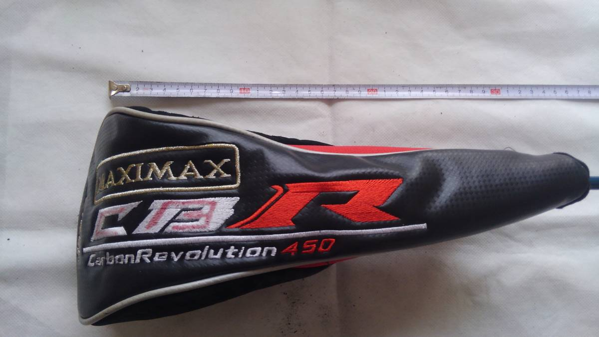 ★★WORKS GOLF MAXIMAX CBR Carbon Revolution 450 ヘッドカバー 1W用 (黒×赤)F20_画像3