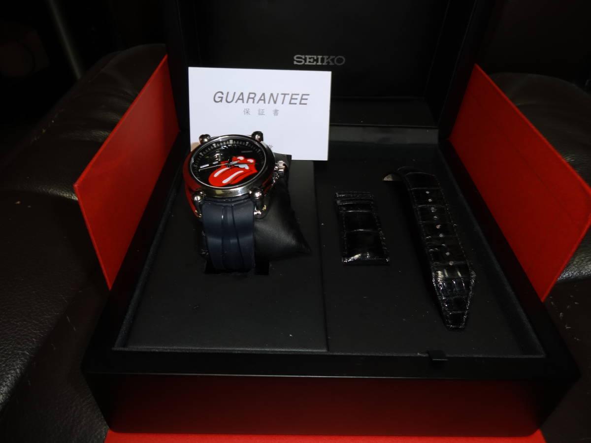 格安セイコー SEIKO ガランテ SBLL017 ザ ローリングストーンズ 限定モデル メンズ 腕時計 ウォッチ 自動巻き オートマ 【中古】 _画像2