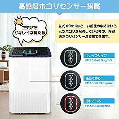 空気清浄機 Eastshining 4種浄化システム 高感度ホコリセンサー 4段階風量調節 花粉対策 脱臭 殺菌 3時間タイマー付 _画像7