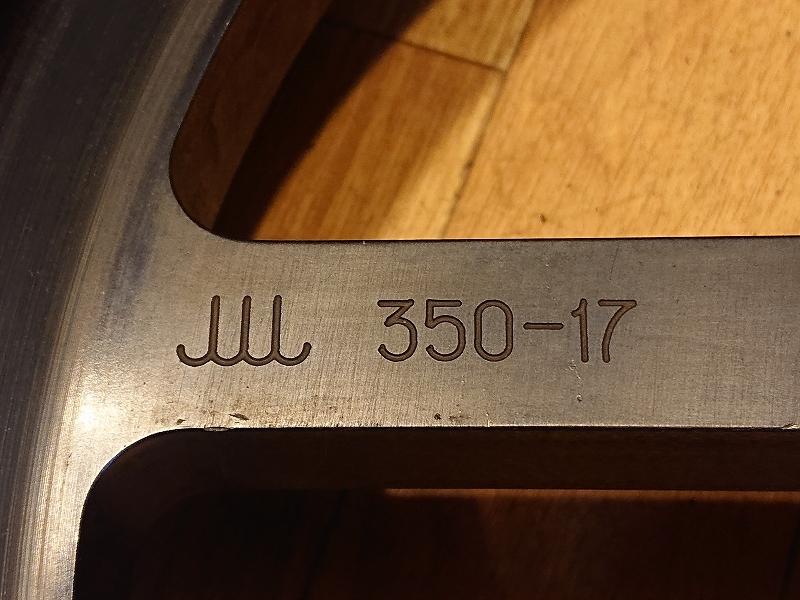 【ジャンク】ZZR1100D/ZX11D HI-POINT鍛造アルミ フロントホイール 3.50-17_画像8