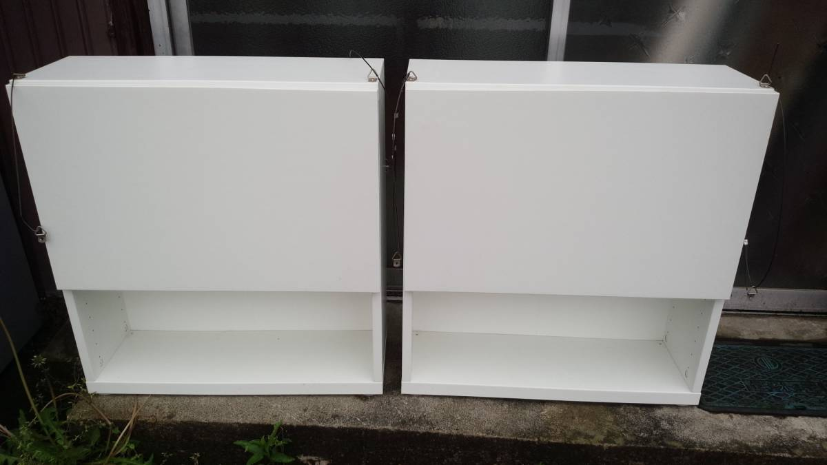 IKEA ウォールキャビネット 壁面収納 壁掛け収納棚 2個セットで USED格安!