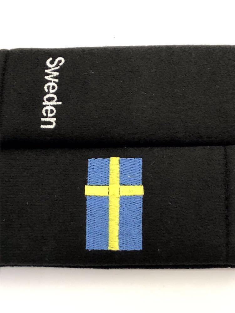 スウェーデン シートベルトカバー 肩パッド 国旗 バルブキャップ ボルボ VOLVO V70 V40 V60 V50 XC60 XC90 240 244 264 740 760 780 850_画像2