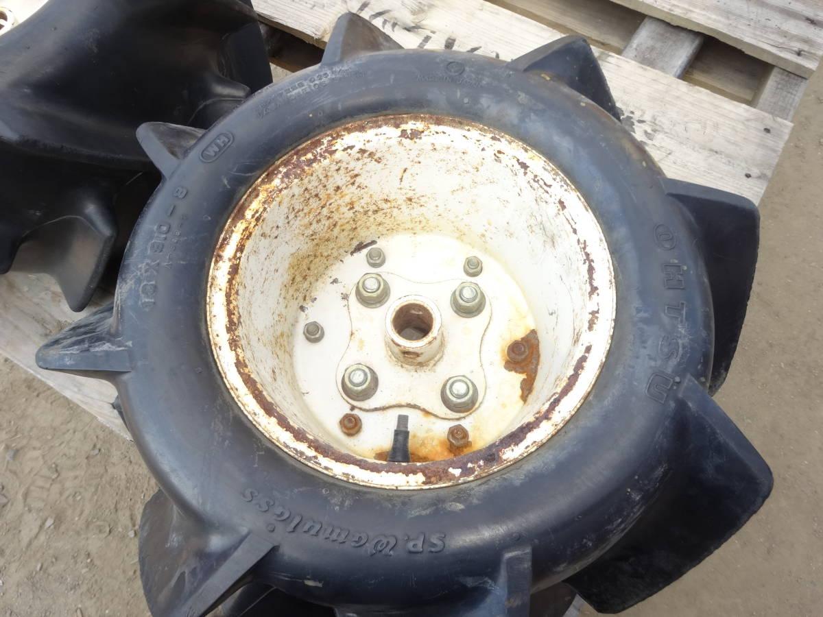 バインダータイヤ 18X9.0-8 オーツ 2本ですが1本の値段で出品 中1本おまけ 取り付部丸 直径約 25mm チューブレス エアー漏れなし_画像4