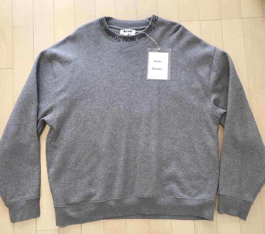 Acne Studios Flogho Crew Sweat Light Grey アクネストゥディオズ トレーナー パーカー セーター メンズ