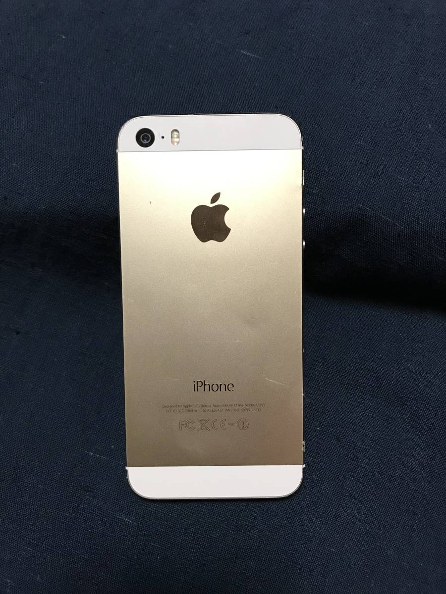 iPhone 5s 32GB Model A1453 白 ゴールド docomo版 箱なし 本体のみ_画像3