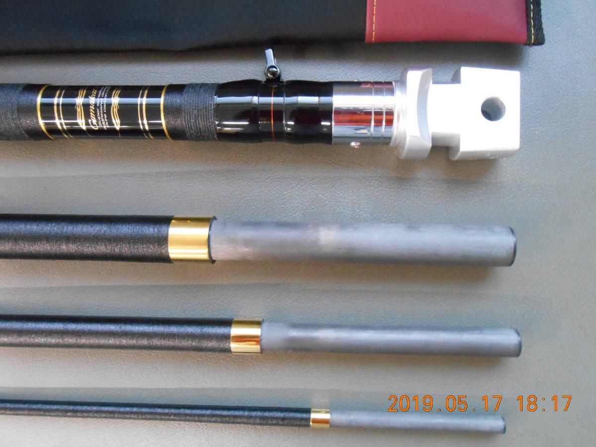 がまかつ銘竿 クエ竿 がまくえグレートインパルス80号480 綺麗なお品です。クエ、アラ、モロコ、アーラミーバイ、ガーラ等に最適。_画像6