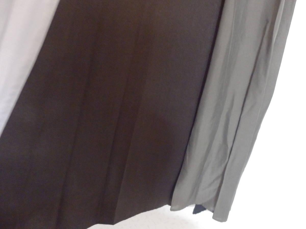 新品スコットクラブSCOTCLUBウエストリブゴム素材アースカラーフレアースカートミモレ丈定価15000日本製_画像5
