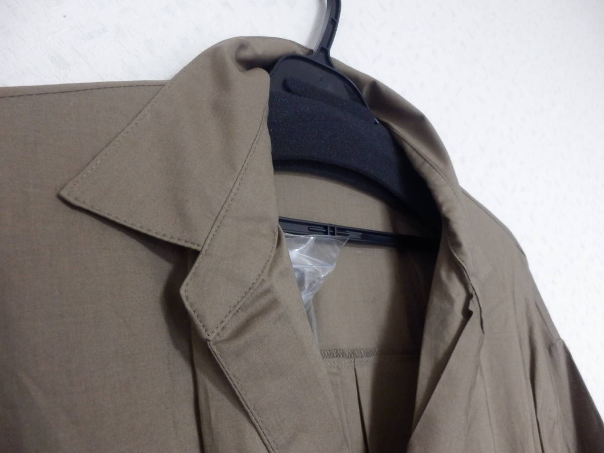 新品グランターブルスコットクラブサッシュベルト付コットン100%七分袖フレアースカートシャツワンピカー定価19990日本製_画像2