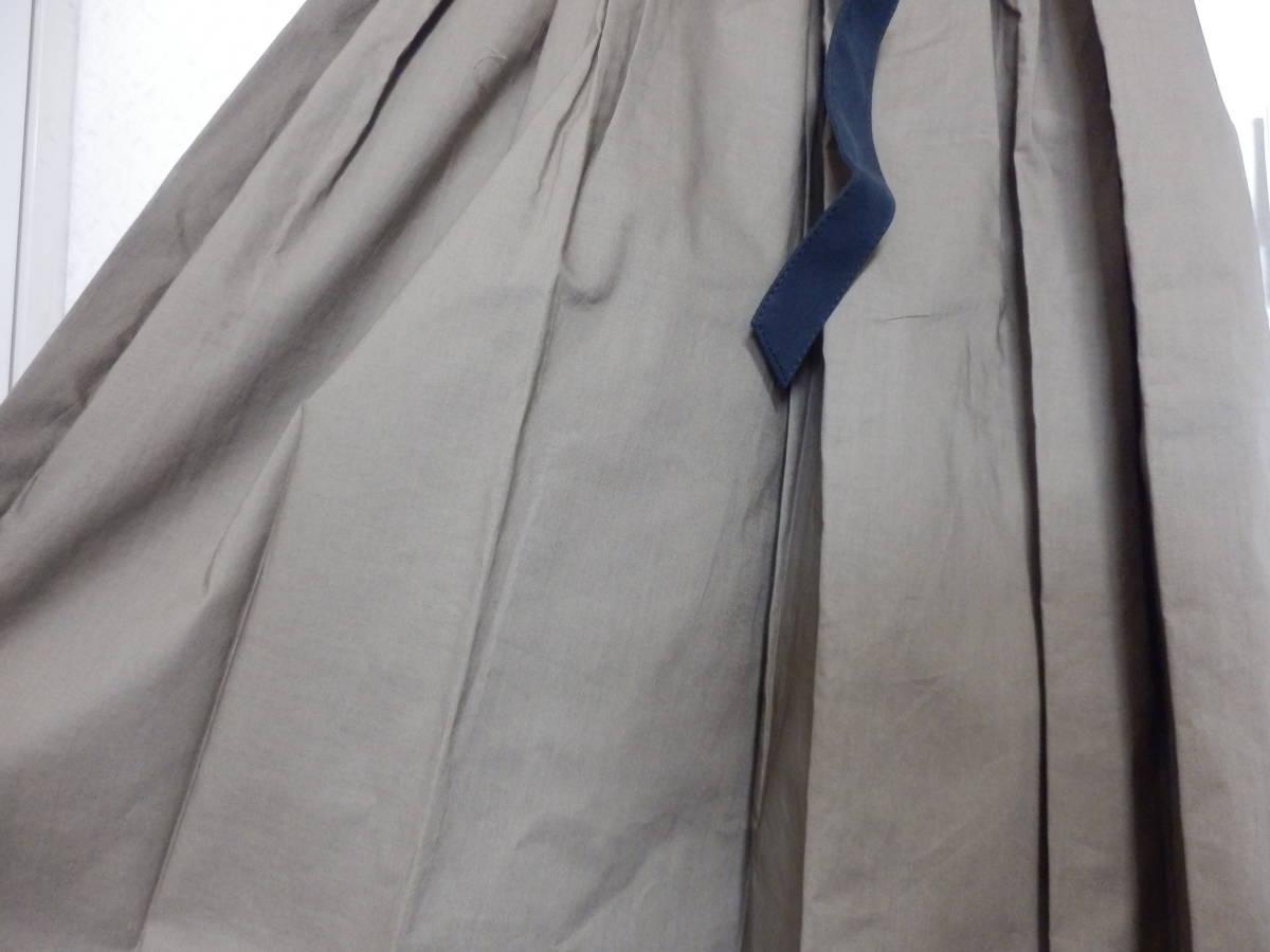 新品グランターブルスコットクラブサッシュベルト付コットン100%七分袖フレアースカートシャツワンピカー定価19990日本製_画像5