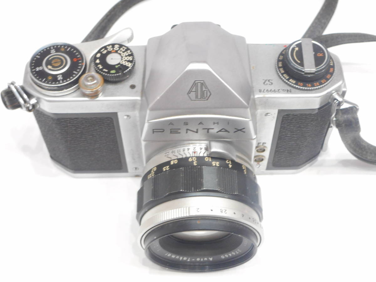 ◇一眼レフ カメラ ASAHI PENTAX S2 レンズ Auto-TAKUMAR 1:2/55mm Asahi Opt アサヒ ペンタックス タクマー ◇_画像8