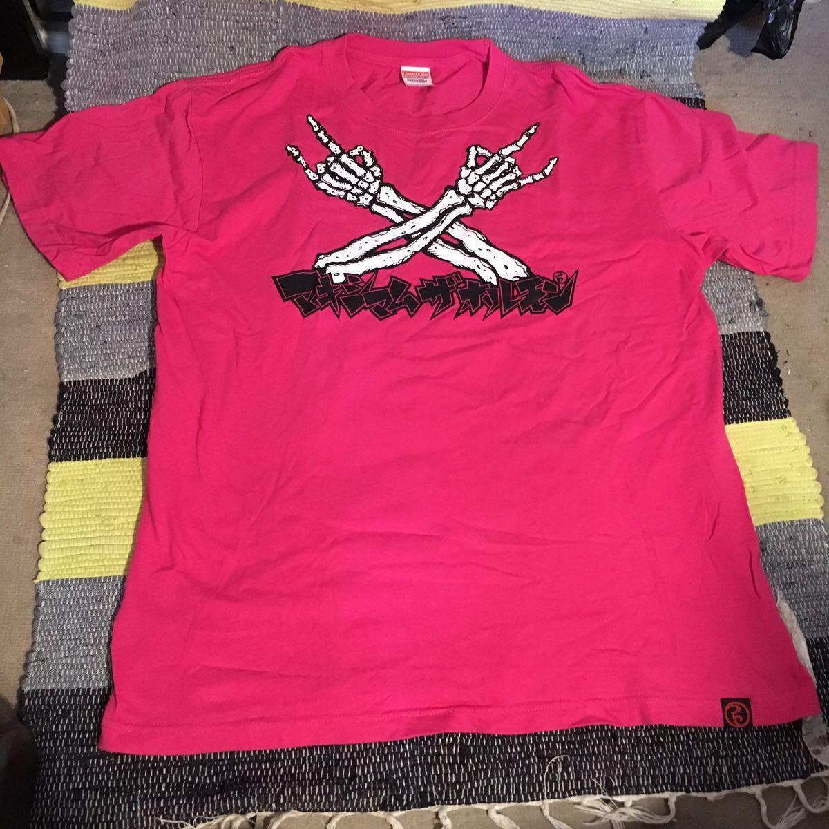 未使用新品 /マキシマム ザ ホルモン Tシャツ ピンク DAME XXX NIGIRE!! GET UP BOYS! PINK XL/maximum the Hormon shirts _画像2