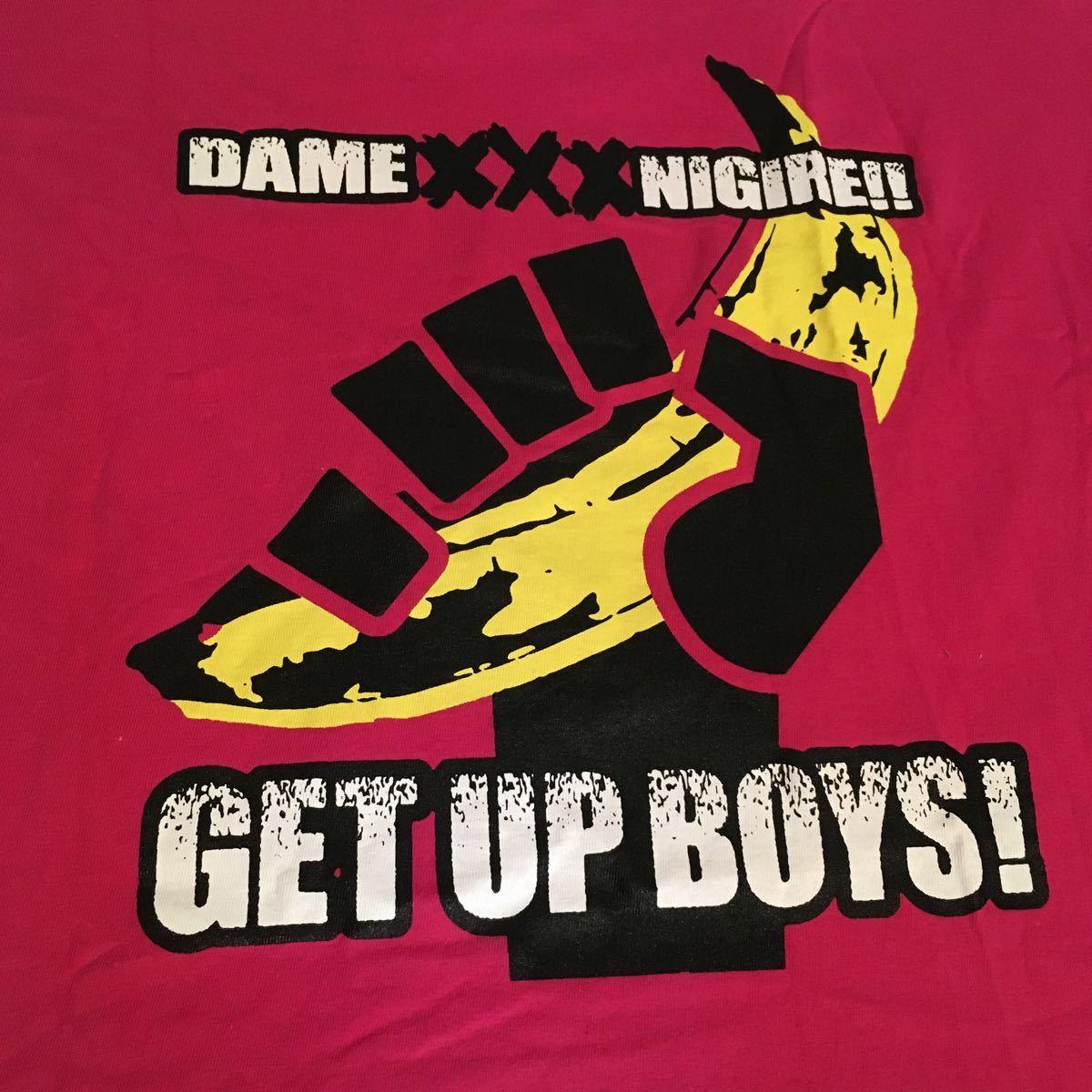 未使用新品 /マキシマム ザ ホルモン Tシャツ ピンク DAME XXX NIGIRE!! GET UP BOYS! PINK XL/maximum the Hormon shirts _画像5