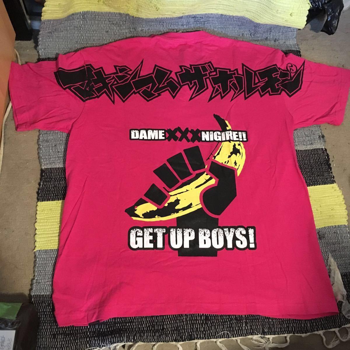 未使用新品 /マキシマム ザ ホルモン Tシャツ ピンク DAME XXX NIGIRE!! GET UP BOYS! PINK XL/maximum the Hormon shirts