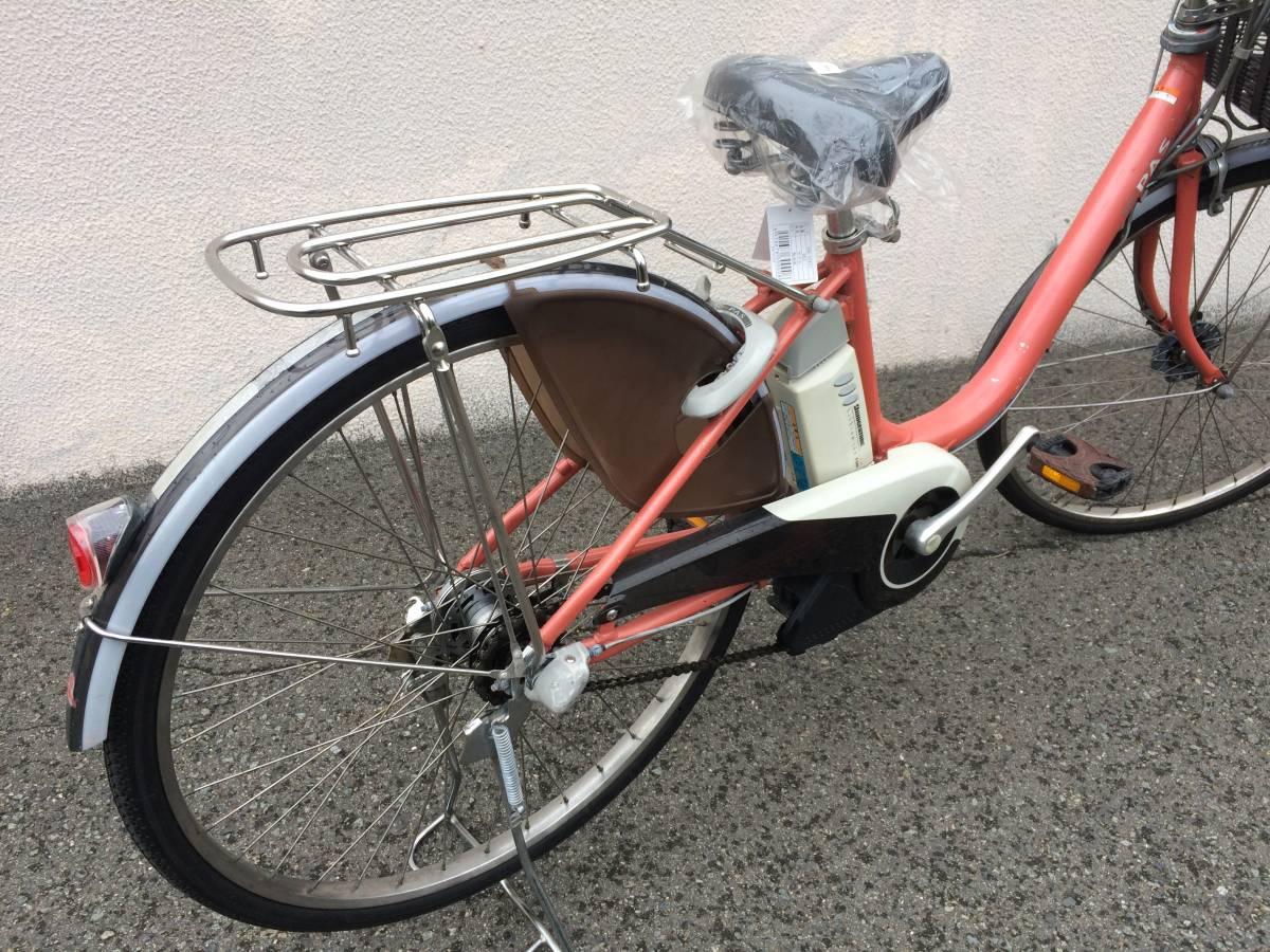 ヤマハ パス 新基準 子供乗せ 薄赤 アシスタ ビビ 神戸市 電動自転車 地域限定_画像4