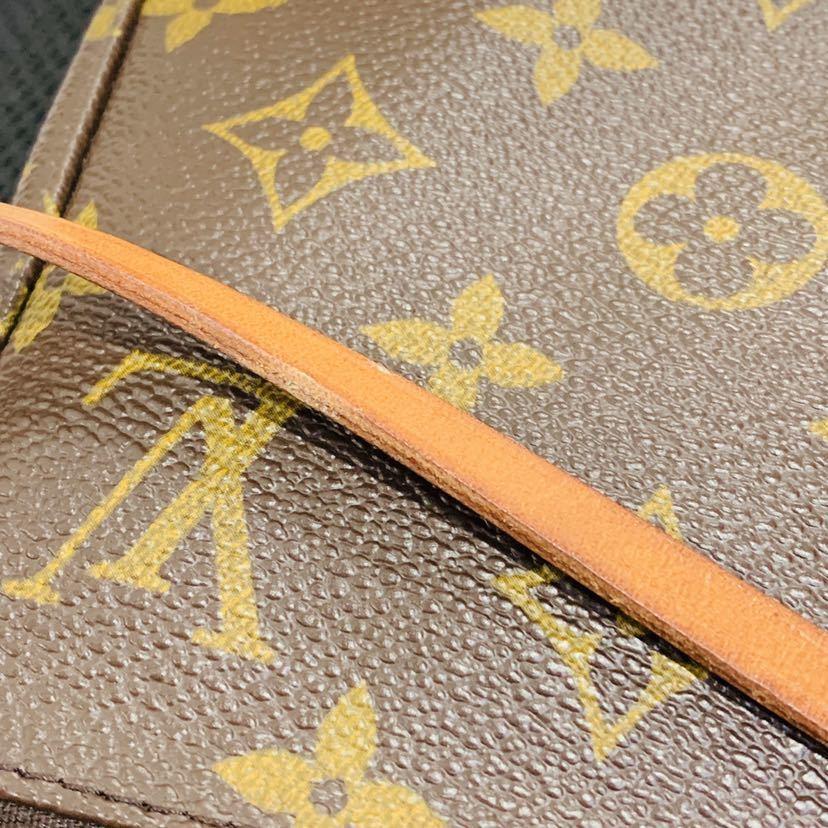 【521-K 美品】ルイヴィトン Louis Vuitton ポシェット アクセサリーポーチ モノグラム アクセソワール M51980 レディース_画像4