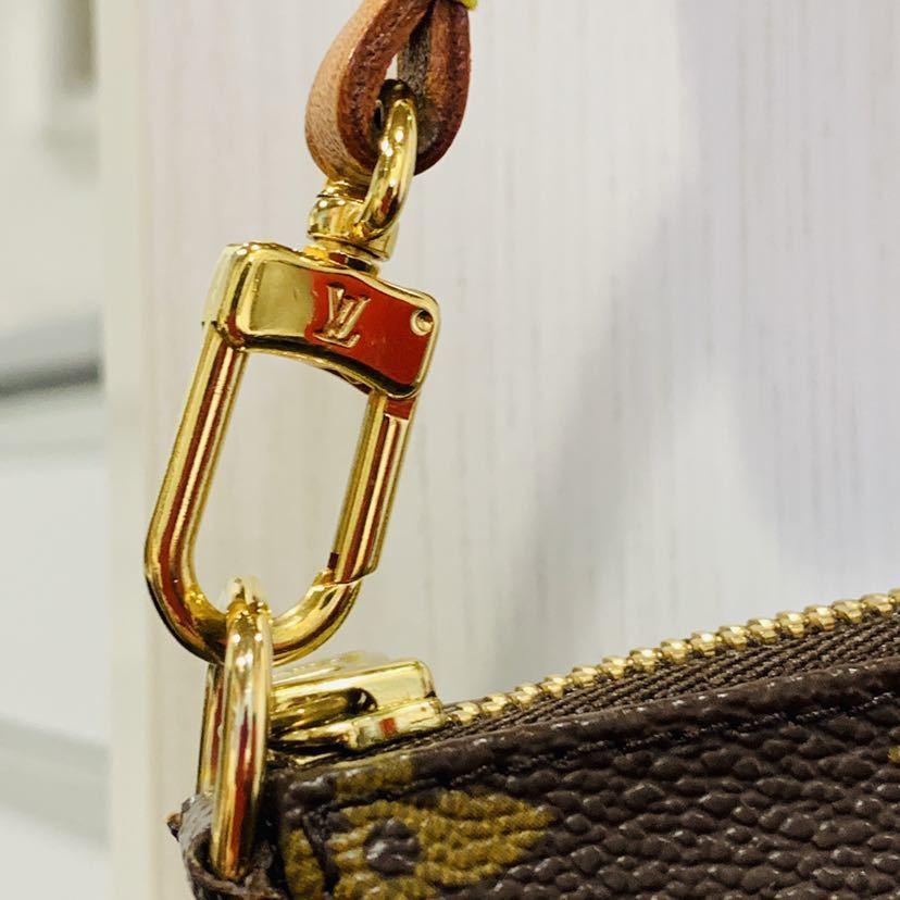 【521-K 美品】ルイヴィトン Louis Vuitton ポシェット アクセサリーポーチ モノグラム アクセソワール M51980 レディース_画像9