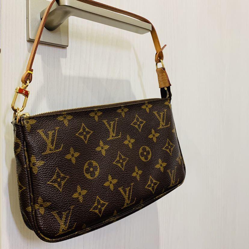 【521-K 美品】ルイヴィトン Louis Vuitton ポシェット アクセサリーポーチ モノグラム アクセソワール M51980 レディース_画像8