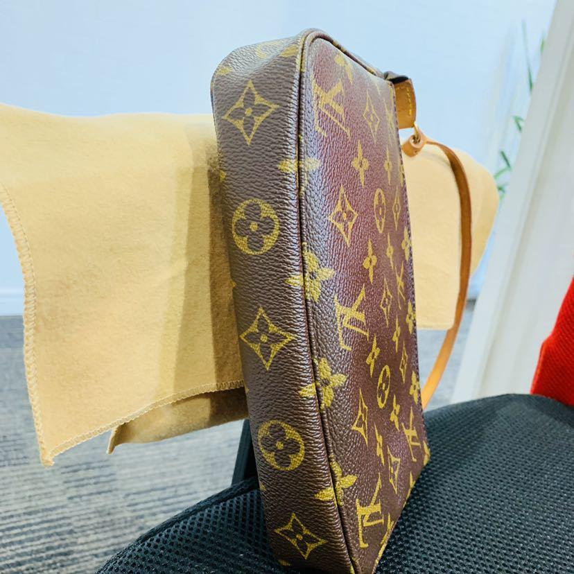 【521-K 美品】ルイヴィトン Louis Vuitton ポシェット アクセサリーポーチ モノグラム アクセソワール M51980 レディース_画像3