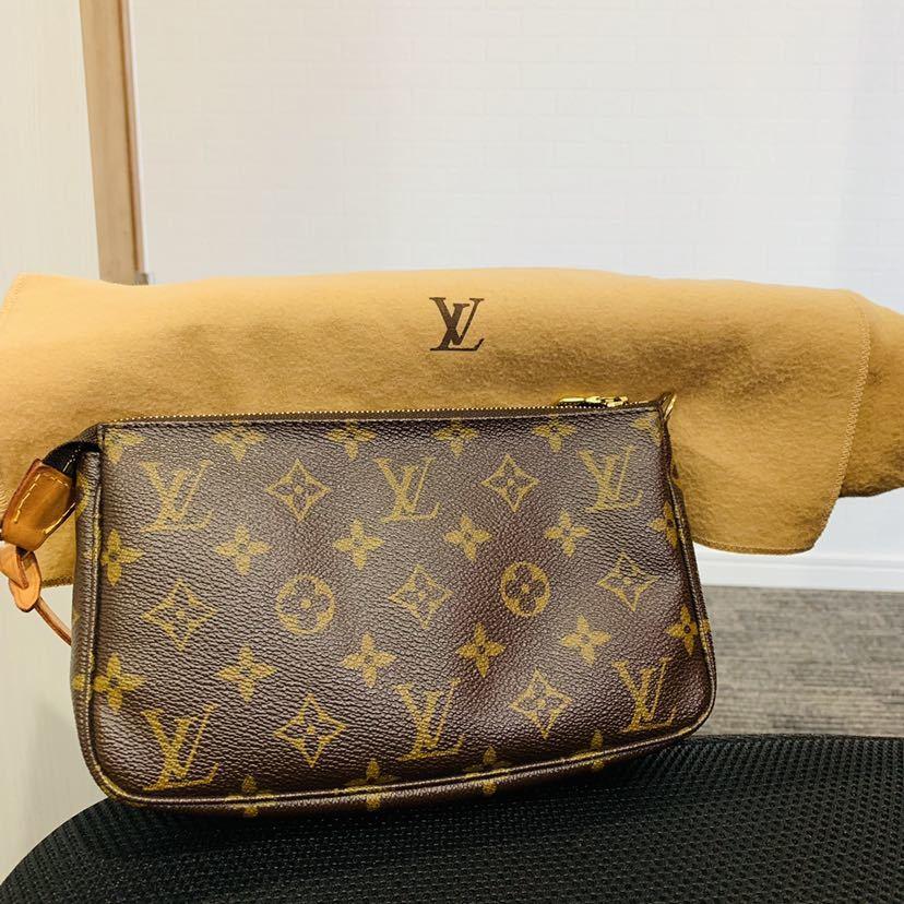 【521-K 美品】ルイヴィトン Louis Vuitton ポシェット アクセサリーポーチ モノグラム アクセソワール M51980 レディース