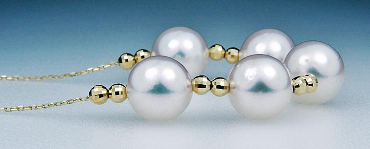♪♪新品♪◆鑑別書付綺麗なK18大珠あこや本真珠8.0~8.5mmネックレス_画像3