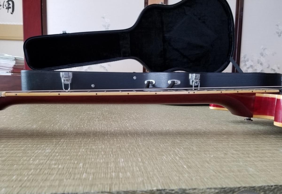 骨董品 再出品 YAMAHA ヤマハ SA700 Super Axe セミアコ エレキギター ハードケース付き _画像8