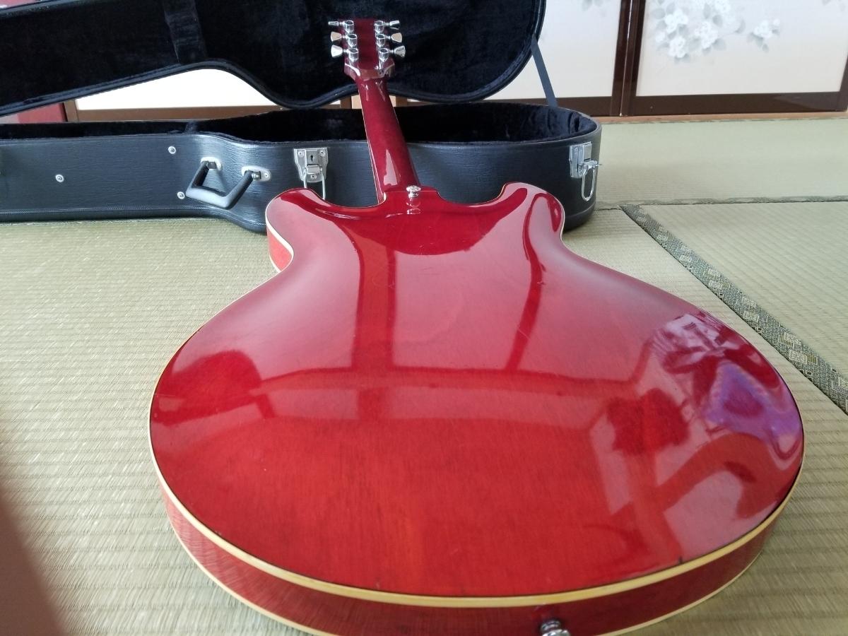 骨董品 再出品 YAMAHA ヤマハ SA700 Super Axe セミアコ エレキギター ハードケース付き _画像5