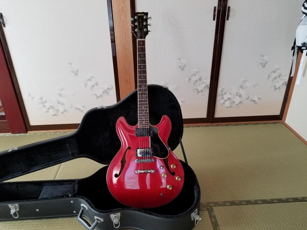 骨董品 再出品 YAMAHA ヤマハ SA700 Super Axe セミアコ エレキギター ハードケース付き _画像2