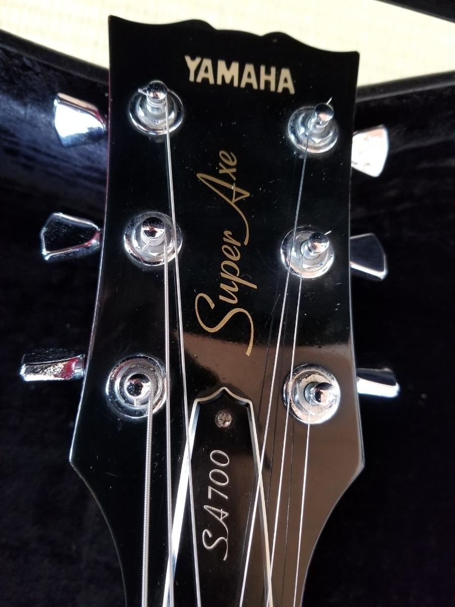 骨董品 再出品 YAMAHA ヤマハ SA700 Super Axe セミアコ エレキギター ハードケース付き _画像6