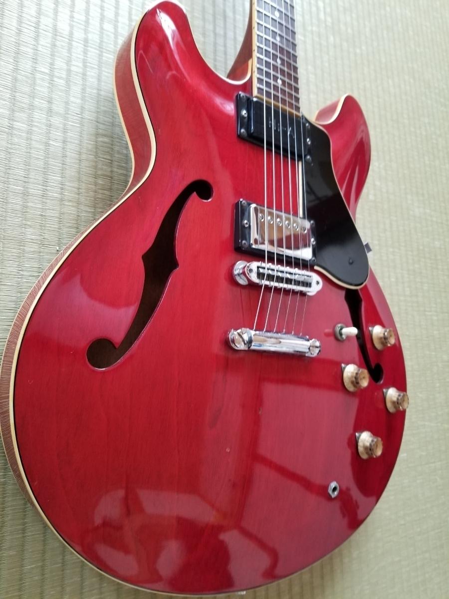 骨董品 再出品 YAMAHA ヤマハ SA700 Super Axe セミアコ エレキギター ハードケース付き _画像4