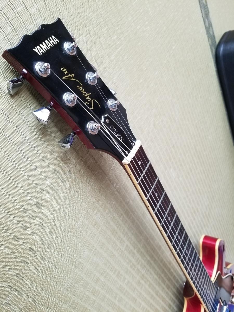 骨董品 再出品 YAMAHA ヤマハ SA700 Super Axe セミアコ エレキギター ハードケース付き _画像10