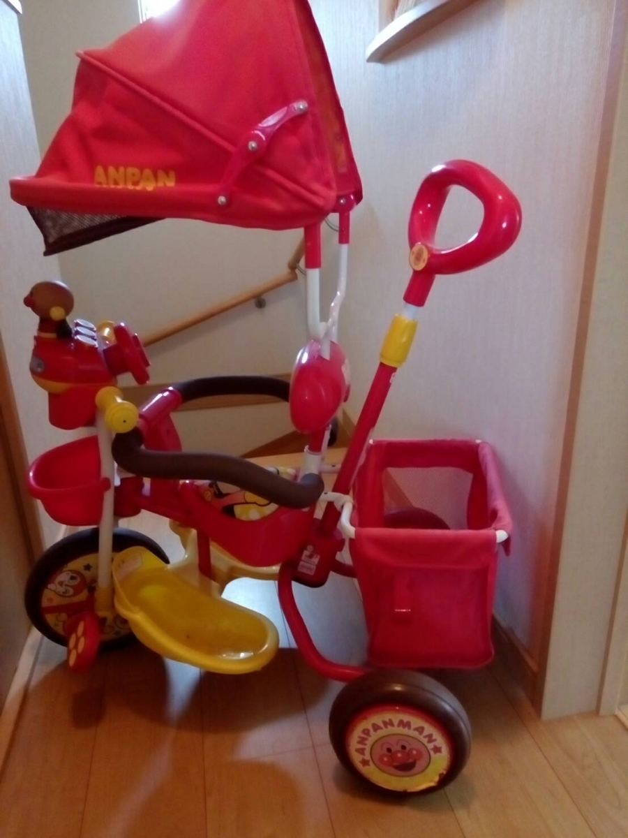 アンパンマン 三輪車デラックス_画像2