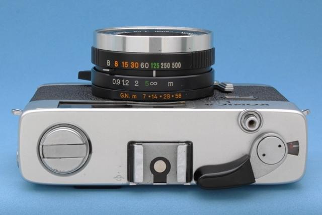 Konica C35 FD Hexanon 38mm 1:1.8 シャッター・露出計作動確認済み ジャンクで コニカ_画像6