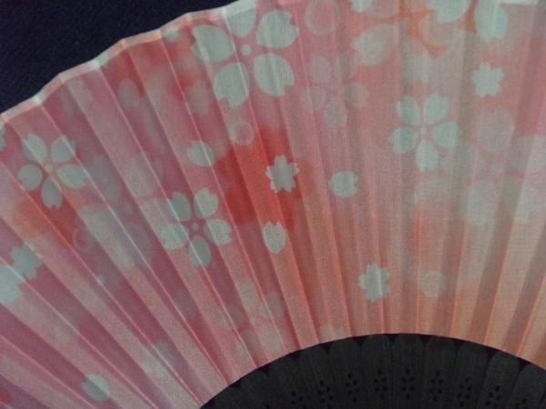 【送料無料:扇子】★綺麗な「桜」柄:和風 21cm: c 団扇 せんすセンス 小物 涼しい ファッション 舞扇子 和装小物 日本舞踊_画像2