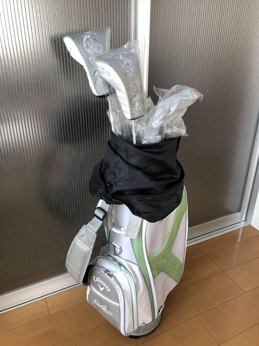 レディースゴルフクラブ セット キャロウェイ キャディバッグ クラブ カバー全て新品未使用暗所にて保管 1円~最落なし_画像2