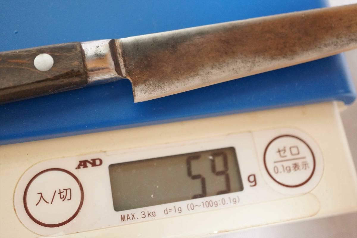 刃30【全国送料無料】 堺 作光作 鋼製 ペティーナイフ 刃渡約143mm 研ぎ済み_画像6