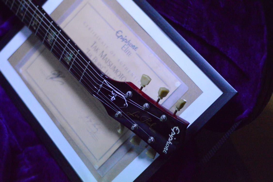 送料込!売切!epiphone Elite tak burst Les Paul フジゲン製 Gibsonヘッド tak matsumoto_画像3