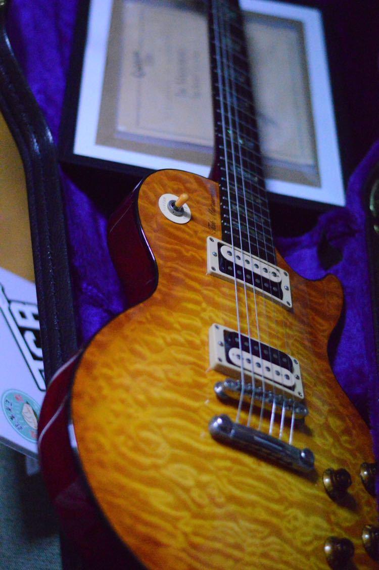 送料込!売切!epiphone Elite tak burst Les Paul フジゲン製 Gibsonヘッド tak matsumoto_画像2
