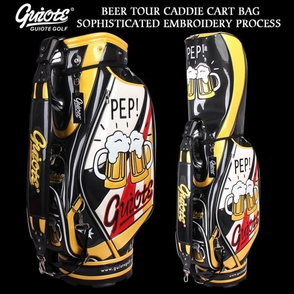 個性的!!刺繍入り GUIOTE ゴルフ キャディバッグ caddie bag  ゴルフバッグ golf bag Cheers GU-10
