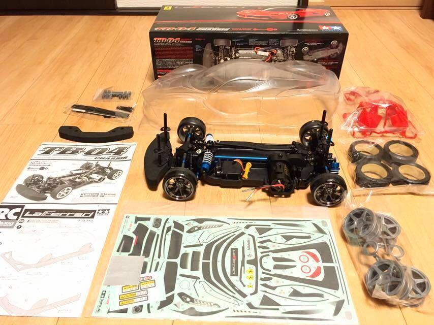 送料無料 試走のみ TB-04 新品ラフェラーリボディ 新品タイヤ・ホイール オプション多数 おすすめ!ラジコン タミヤ