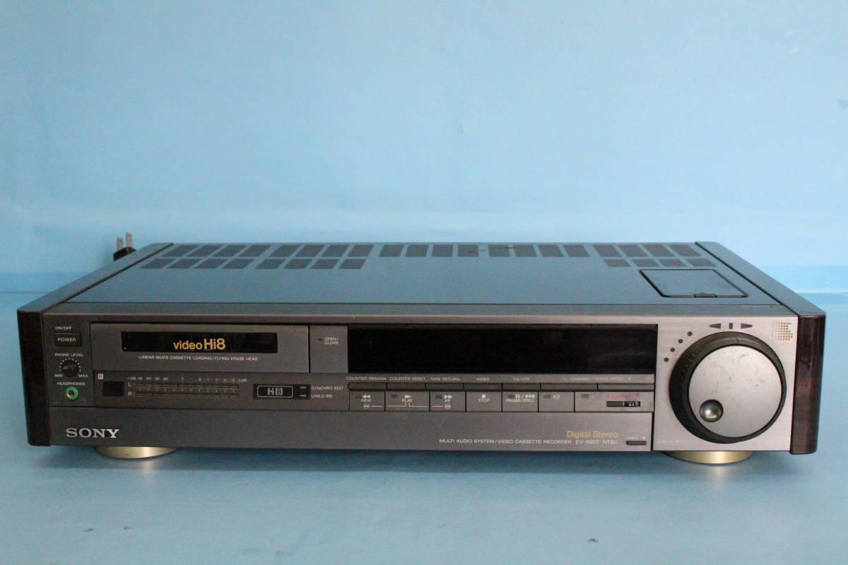 SONY ソニー EV-S900 NTSC Hi8ビデオカセットレコーダー (ジャンク 動作不可 リモコン液漏れよごれあり 写真のもののみ)_画像2