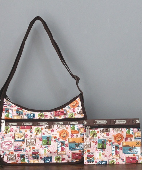 man and woman use BAG * pretty shoulder bag Le Sportsac middle size ticket