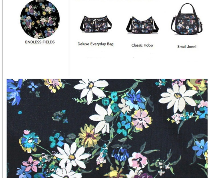 man and woman use BAG * pretty shoulder bag Le Sportsac pouch attaching floral print black
