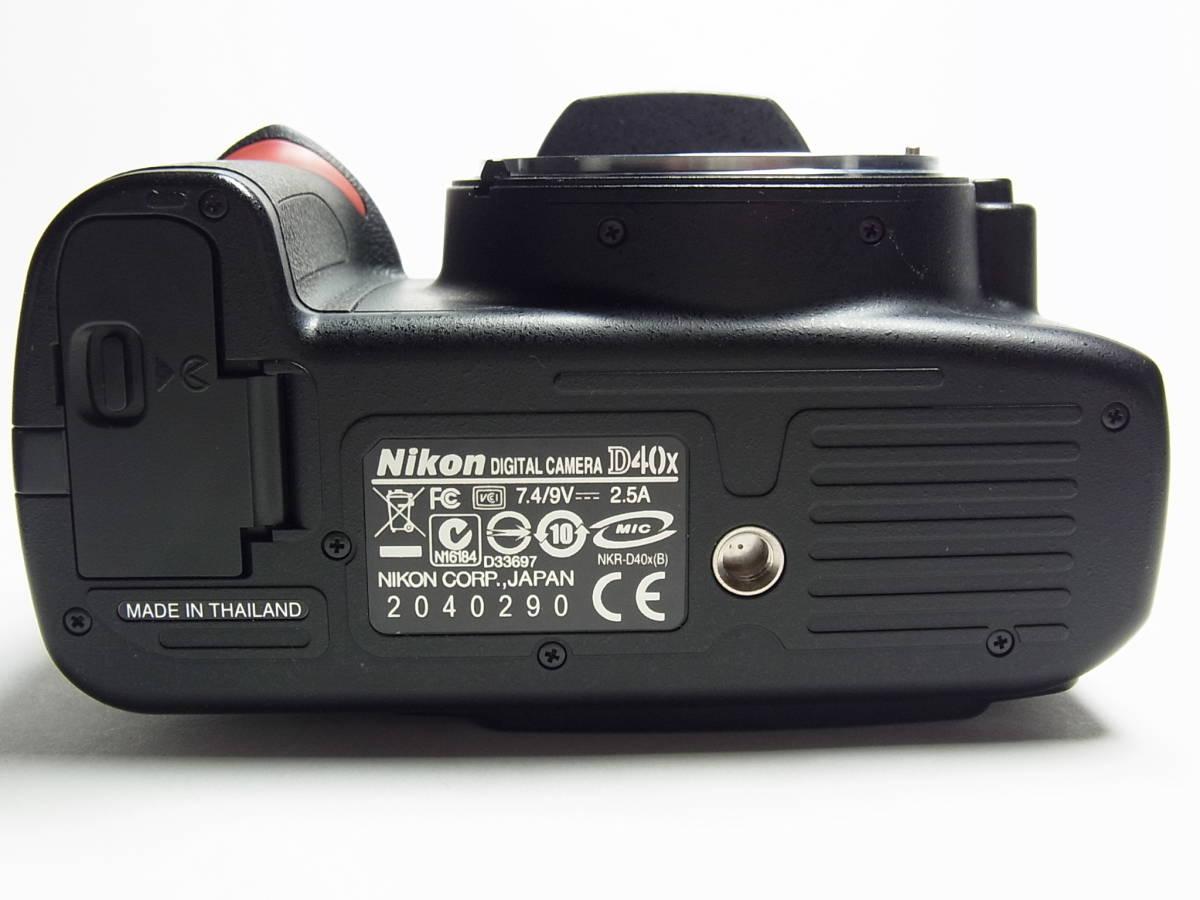 作動品 超美品 少ショット Nikon D40X ボディ 純正 バッテリー 充電器 ストラップ ニコン デジタル 一眼_画像6