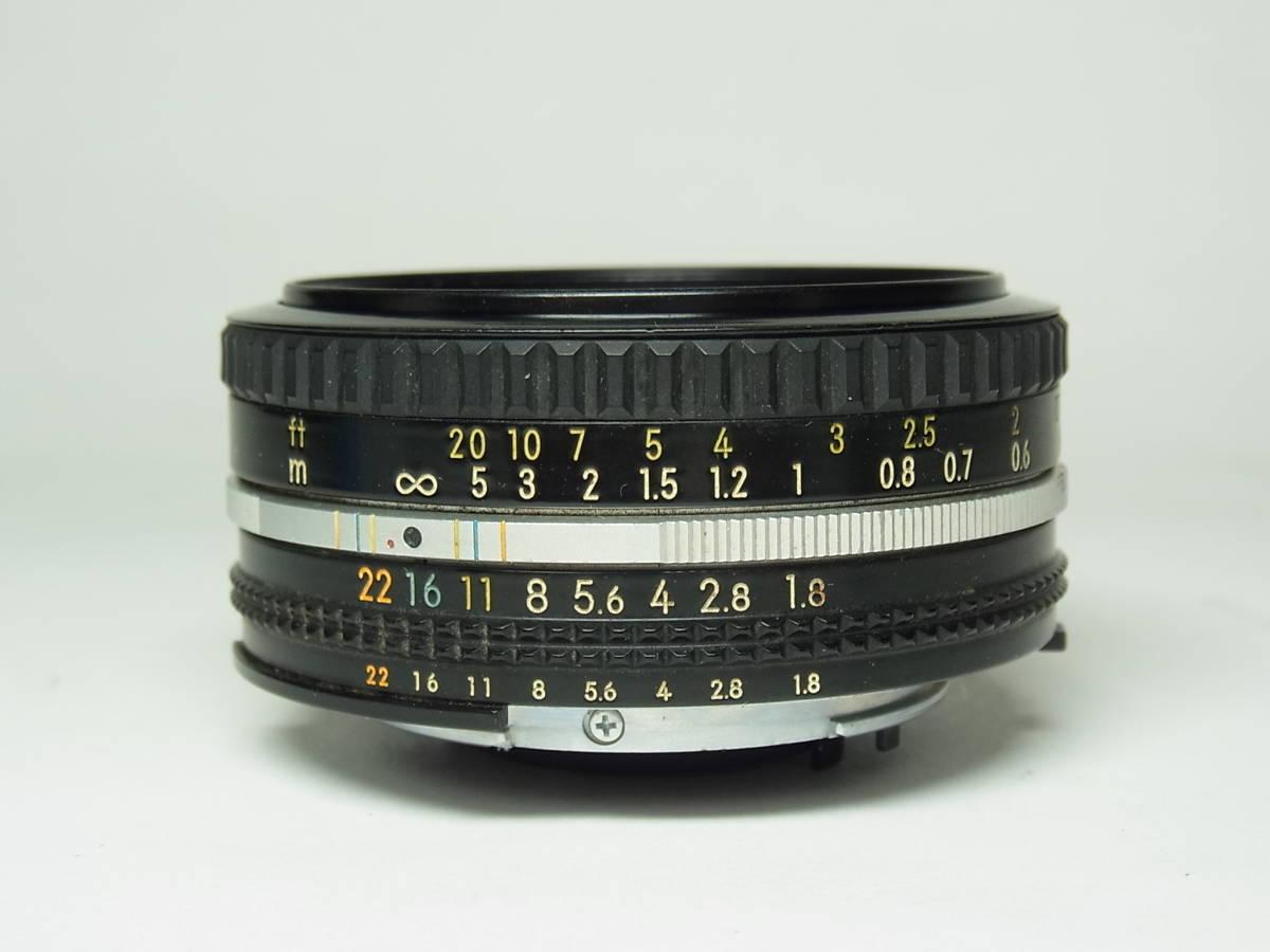 NIKKOR 50mm F1.8 (1:1.8) Ai-s 単焦点 レンズ パンケーキ レンズ ニッコール Nikon ニコン_画像2