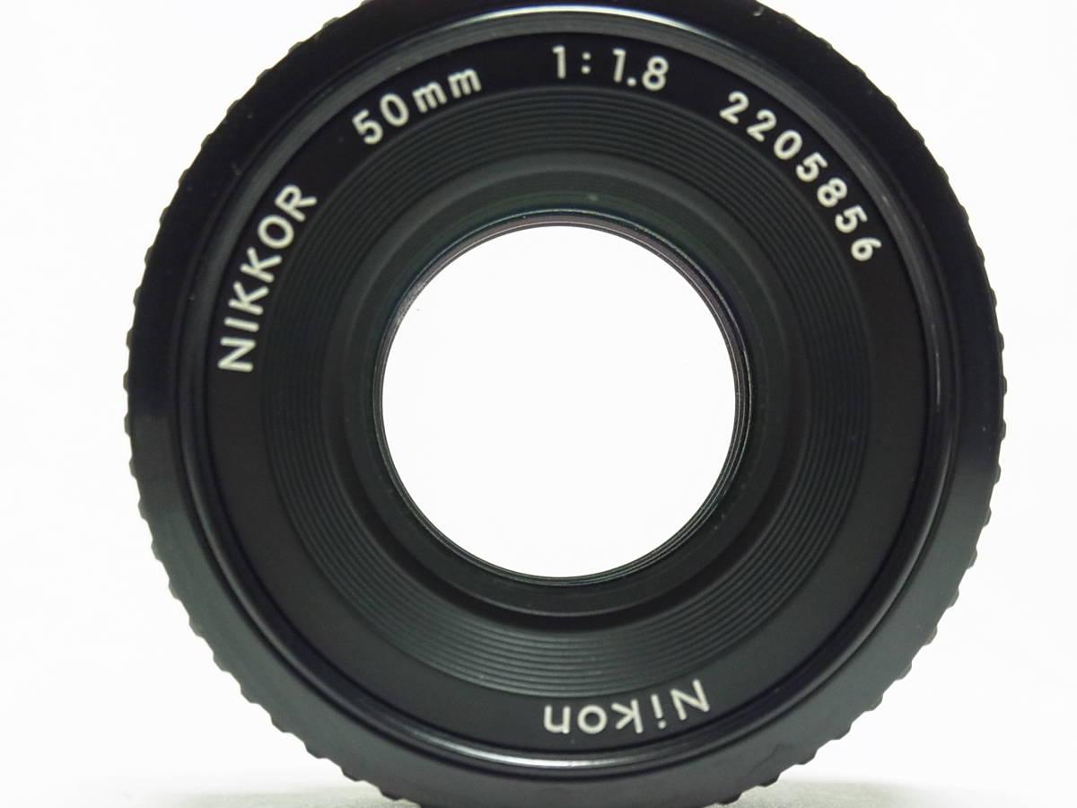 NIKKOR 50mm F1.8 (1:1.8) Ai-s 単焦点 レンズ パンケーキ レンズ ニッコール Nikon ニコン_画像8