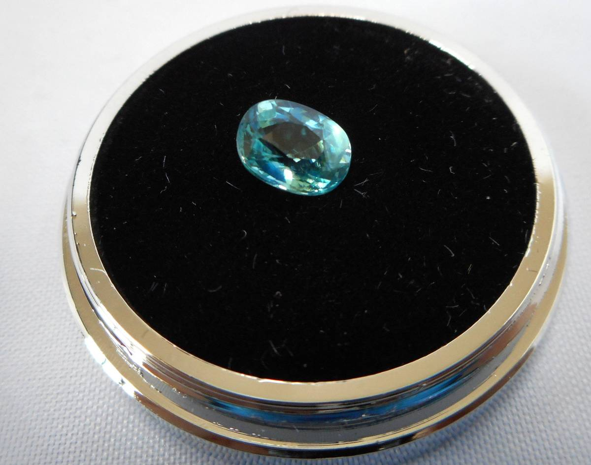 新品 天然グランディディエライト 1.071ct 超希少石 レアストーン 極上級品 マダガスカル産 大きめ石 幻の一石_画像2
